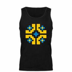 Мужская майка Pixel pattern blue and yellow
