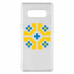 Чехол для Samsung Note 8 Pixel pattern blue and yellow