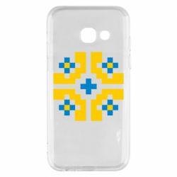 Чехол для Samsung A3 2017 Pixel pattern blue and yellow