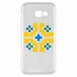 Чехол для Samsung A5 2017 Pixel pattern blue and yellow