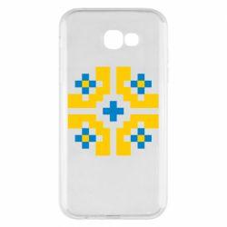 Чехол для Samsung A7 2017 Pixel pattern blue and yellow