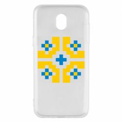 Чехол для Samsung J5 2017 Pixel pattern blue and yellow