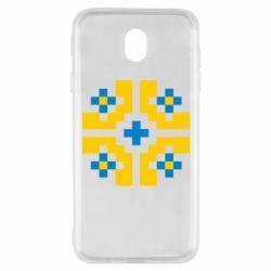 Чехол для Samsung J7 2017 Pixel pattern blue and yellow