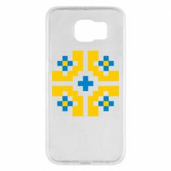 Чехол для Samsung S6 Pixel pattern blue and yellow