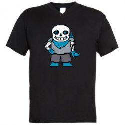 Чоловіча футболка з V-подібним вирізом Pixel Sans