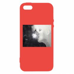 Чехол для iPhone5/5S/SE Pixel style male and female kiss