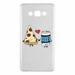 Чохол для Samsung A7 2015 Pizza and beer