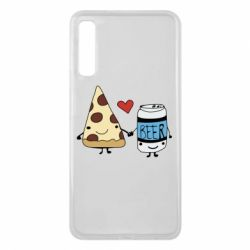 Чохол для Samsung A7 2018 Pizza and beer