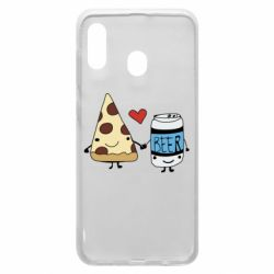 Чохол для Samsung A30 Pizza and beer