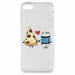 Чохол для iphone 5/5S/SE Pizza and beer