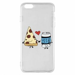 Чохол для iPhone 6 Plus/6S Plus Pizza and beer