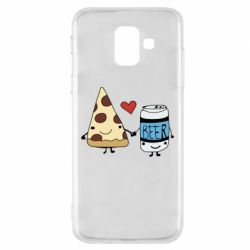 Чохол для Samsung A6 2018 Pizza and beer