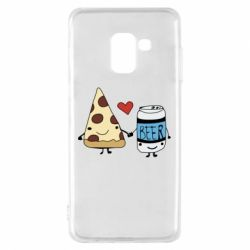 Чохол для Samsung A8 2018 Pizza and beer