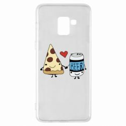 Чохол для Samsung A8+ 2018 Pizza and beer
