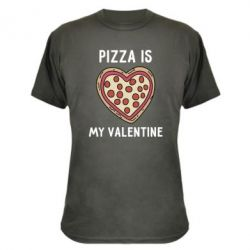 Камуфляжна футболка Pizza is my Valentine