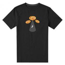 Чоловіча стрейчева футболка Pizza UFO