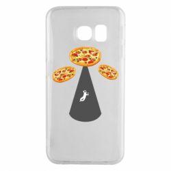 Чохол для Samsung S6 EDGE Pizza UFO