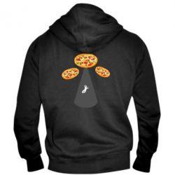 Чоловіча толстовка на блискавці Pizza UFO