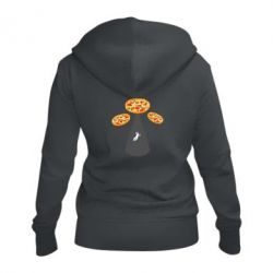 Жіноча толстовка на блискавці Pizza UFO