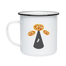 Кружка емальована Pizza UFO