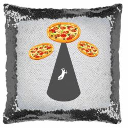 Подушка-хамелеон Pizza UFO