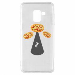 Чохол для Samsung A8 2018 Pizza UFO