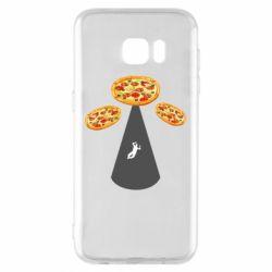 Чохол для Samsung S7 EDGE Pizza UFO