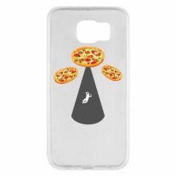 Чохол для Samsung S6 Pizza UFO