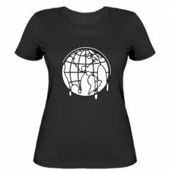 Женская футболка Planet contour