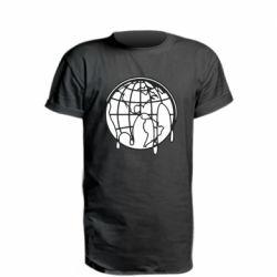 Удлиненная футболка Planet contour
