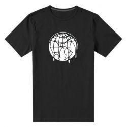 Мужская стрейчевая футболка Planet contour