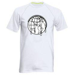 Мужская спортивная футболка Planet contour