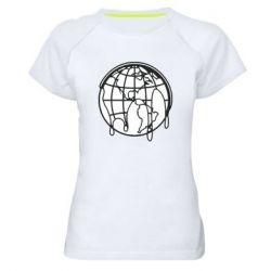 Женская спортивная футболка Planet contour