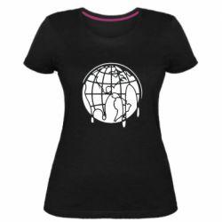 Женская стрейчевая футболка Planet contour