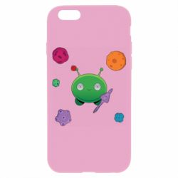 Чехол для iPhone 6/6S Planets and Alien