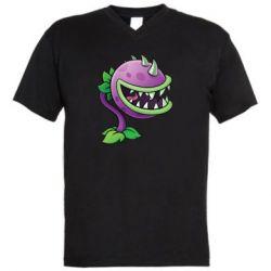 Мужская футболка  с V-образным вырезом Planta carnivora