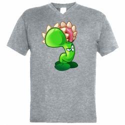 Чоловіча футболка з V-подібним вирізом Plants flower
