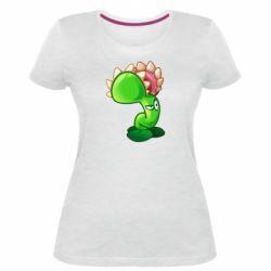 Жіноча стрейчева футболка Plants flower