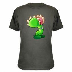 Камуфляжна футболка Plants flower