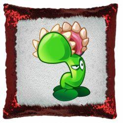 Подушка-хамелеон Plants flower