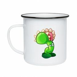 Кружка емальована Plants flower