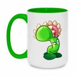 Кружка двоколірна 420ml Plants flower