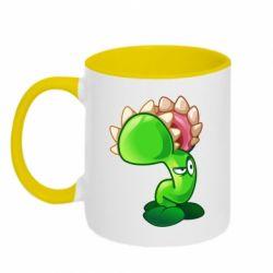 Кружка двоколірна 320ml Plants flower