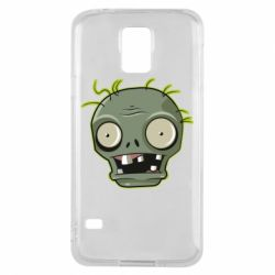 Чохол для Samsung S5 Plants vs zombie head