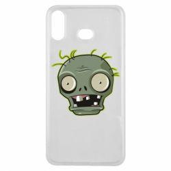 Чохол для Samsung A6s Plants vs zombie head