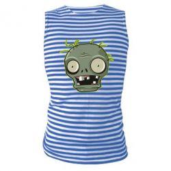 Майка-тільняшка Plants vs zombie head