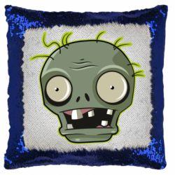 Подушка-хамелеон Plants vs zombie head