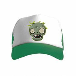 Дитяча кепка-тракер Plants vs zombie head