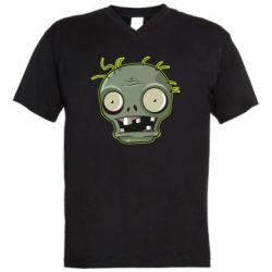 Чоловіча футболка з V-подібним вирізом Plants vs zombie head