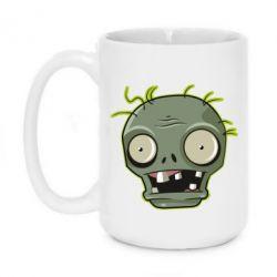 Кружка 420ml Plants vs zombie head